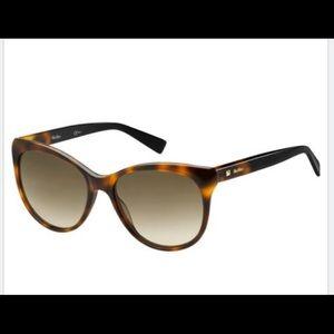 Max Mara Brown Mm Cozy 086/ha Women's Sunglasses